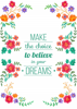 Inspirational Quote - Four Floral Quotes