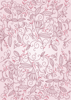 Back Cover - Floral Ornaments - Pink