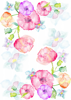 Back Cover - Watercolour Flowers