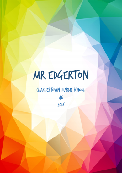 Front Cover - Colourful Polygons