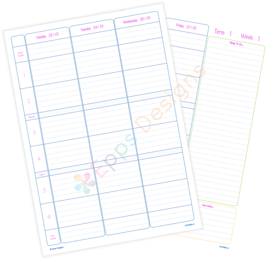Weekly Planner [6 Periods]