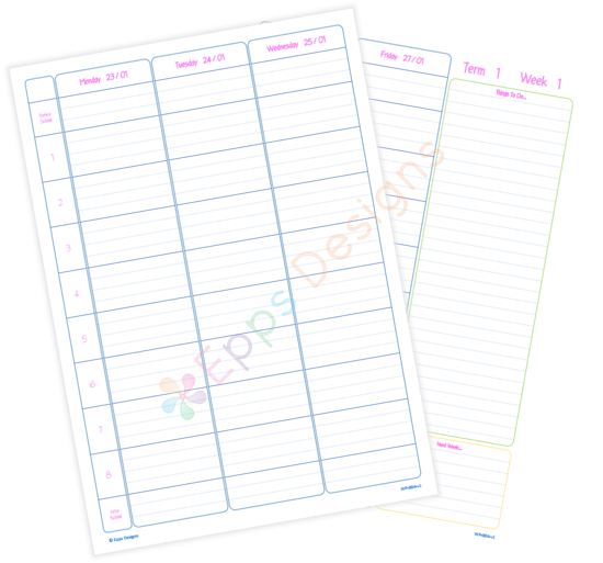 10-Weekly Planner [8 Periods]