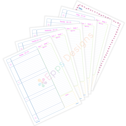 10-Weekly Planner [Day-To-A-Page]