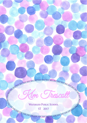 Front Cover - Watercolour Dots