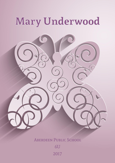 Front Cover - Flat Ornamental Butterfly