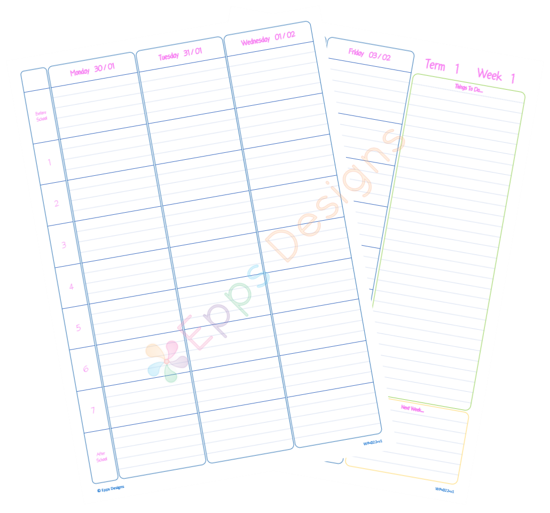 10-Weekly Planner [7 Periods]