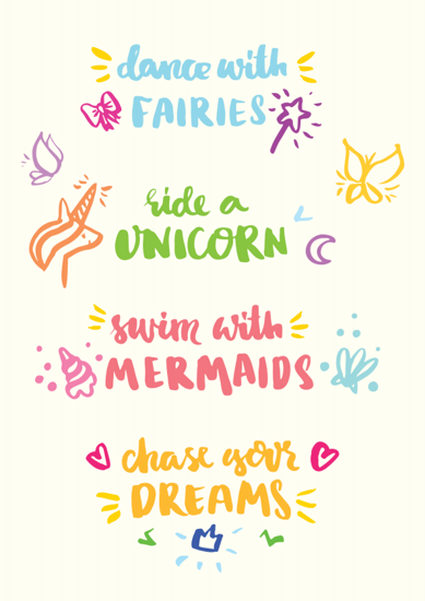 Four Unicorn Quotes - Term 1