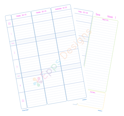 10-Weekly Planner [4 Periods] [v2]