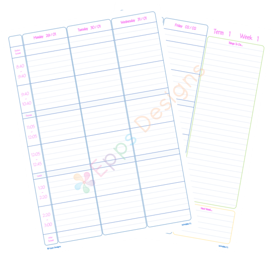 10-Weekly Planner [6 Periods] [T1]