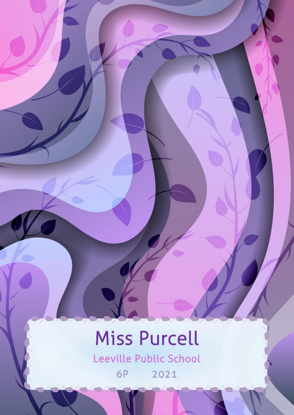 Front Cover - Pink Purple Curvy Branches