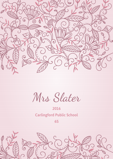 Front Cover - Floral Ornaments - Pink