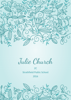 Front Cover - Floral Ornaments - Aqua