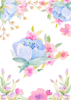 Back Cover - Watercolour Flowers 2