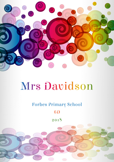Front Cover - Colourful Swirls