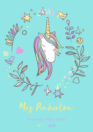 Front Cover - Unicorn 3 - Blue