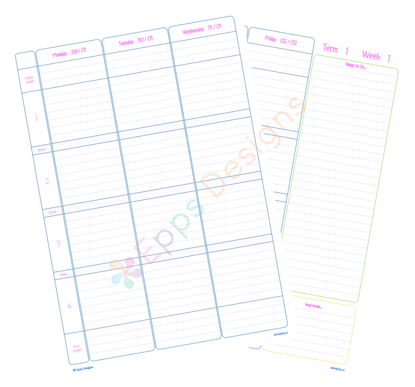 10-Weekly Planner [4 Periods] [v4]