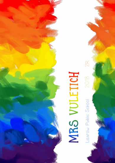 Front Cover - Rainbow Paint