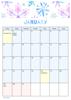 Monthly Calendar Art - Floral Calendar