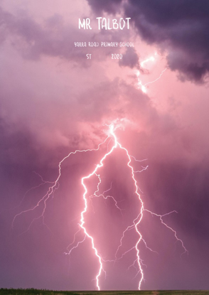 Lightning Over Land - Front Cover